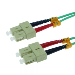 5m Fiber Optic Jumpers 50/125 10G Multimode Duplex SC-SC
