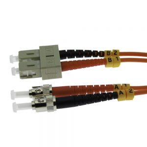 7m Fiber Optic Jumpers 62.5/125 Multimode Duplex SC-ST