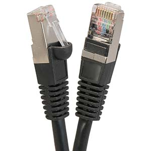 CAT.5E Black Booted Patch Cable