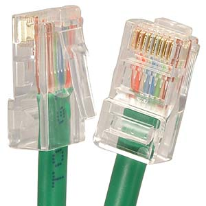 CAT.5E Green Non Booted Patch Cable