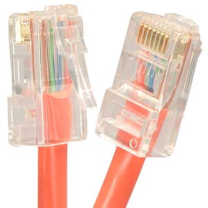 CAT.5E Orange Non Booted Patch Cable