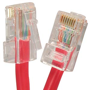 CAT.5E Red Non Booted Patch Cable