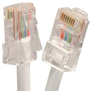 CAT.5E White Non Booted Patch Cable