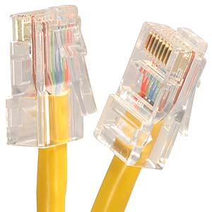 CAT.5E Yellow Non Booted Patch Cable
