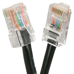 CAT.6 Black Non Booted Patch Cable