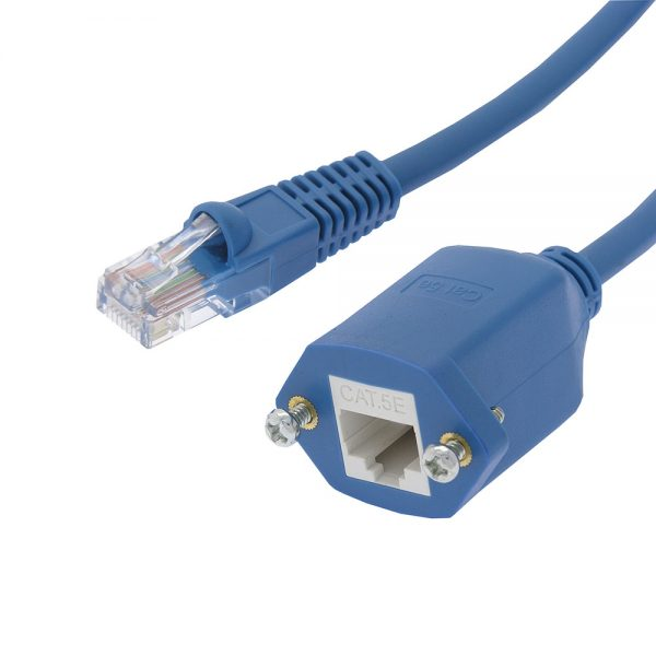 Panel-Mount Blue  Patch Cable